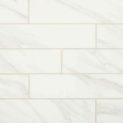 Selwyn Bianco 4 in. x 16 in. Glazed Ceramic Wall Tile (0.44 sq. ft. / piece)