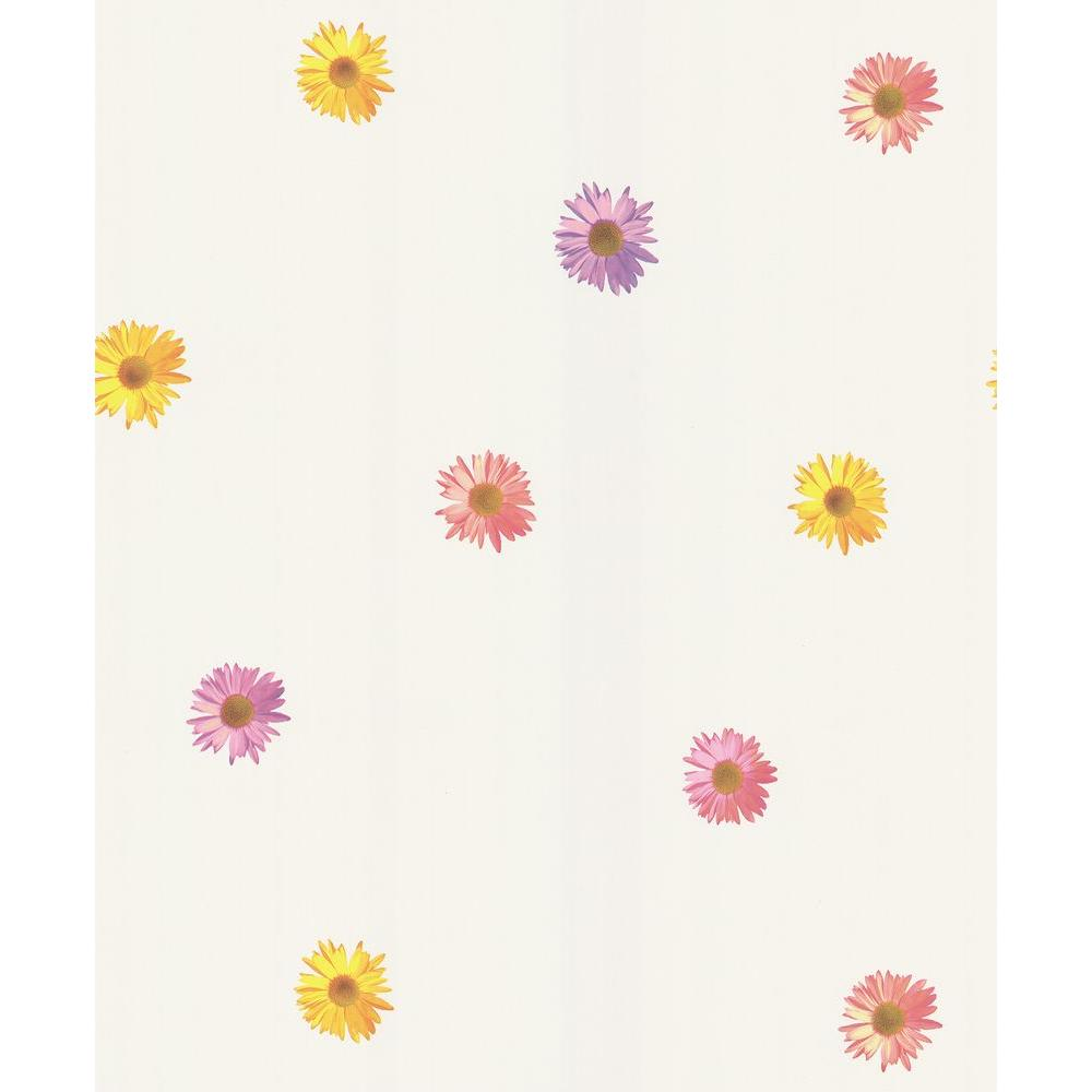 National Geographic White Spot Floral Wallpaper Sample