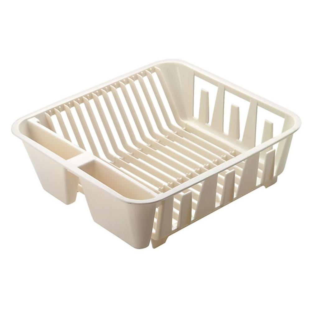 Rubbermaid Small Basic Dish Drainer in White  sc 1 st  Home Depot & Rubbermaid Small Basic Dish Drainer in White-FG6049ARWHT - The Home ...