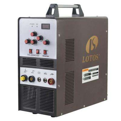 200 Amp TIG/Stick Square Wave Inverter Welder with Foot Pedal for Aluminum, Dual Voltage 110/220V