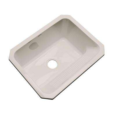 Kensington Undermount Acrylic 25 in. Single Bowl Utility Sink in Shell
