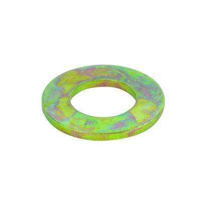 3/8 in. Yellow Zinc Grade 8 Flat Washer (3-Piece)
