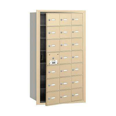3600 Series Sandstone Private Front Loading 4B Plus Horizontal Mailbox with 21A Doors (20 Usable)