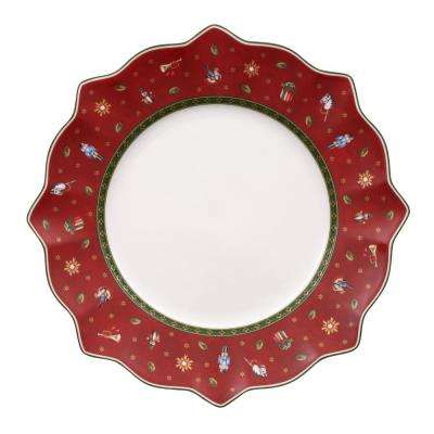 Toy's Delight 11.5 in. Red Dinner Plate
