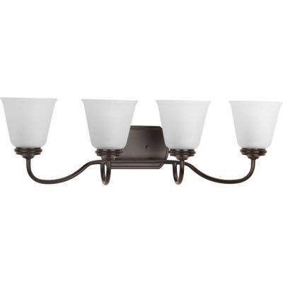 Keats Collection 4-Light Antique Bronze Bathroom Vanity Light with Glass Shades