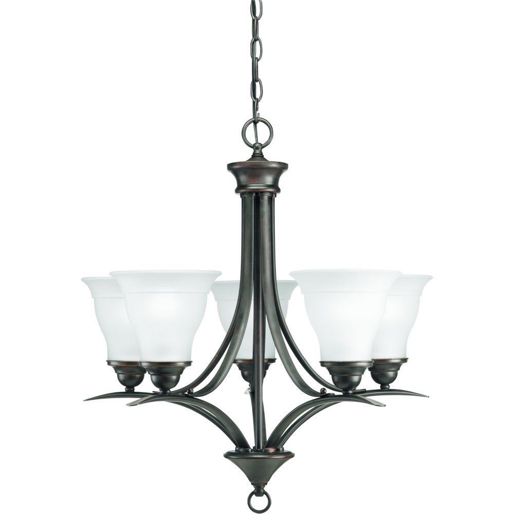 Progress Lighting Trinity Collection 5-Light Antique Bronze Chandelier