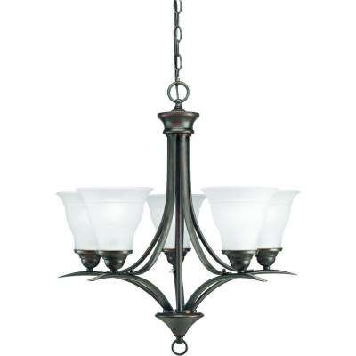 Trinity Collection 5-Light Antique Bronze Chandelier