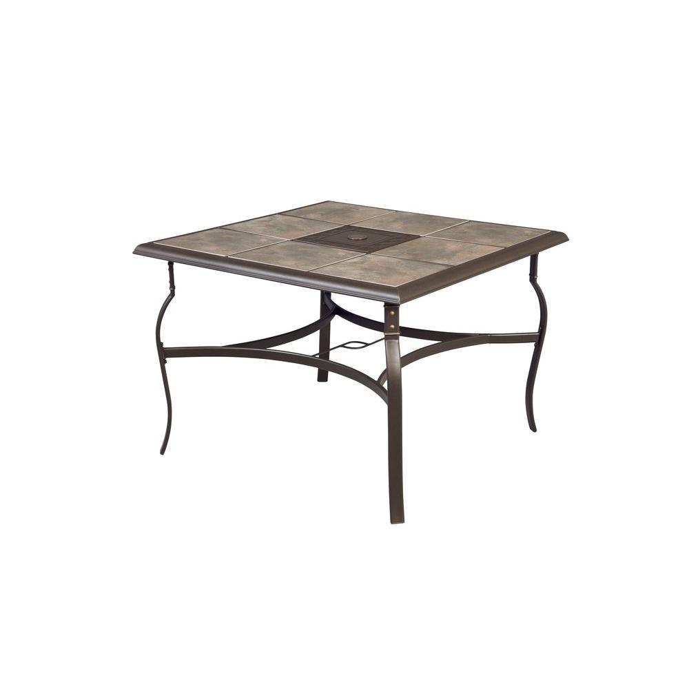 Hampton Bay Belleville 40 in. Square Patio Dining Table