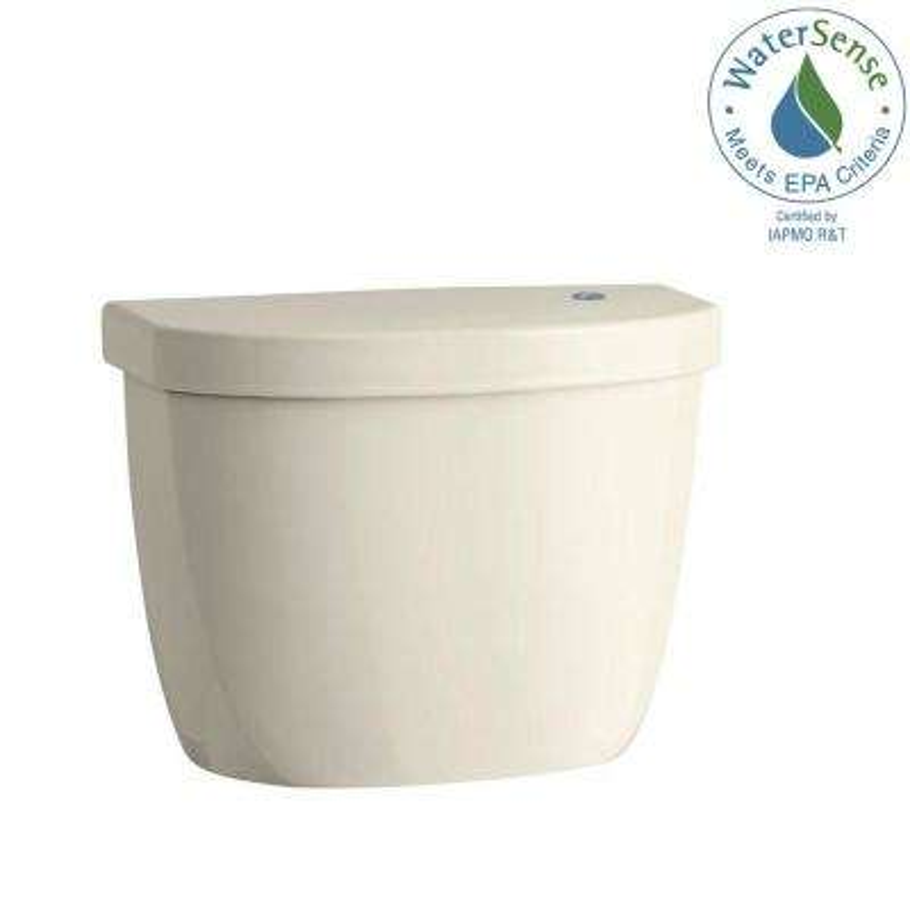 Cimarron Touchless 1.28 GPF Single Flush Toilet Tank Only in Almond