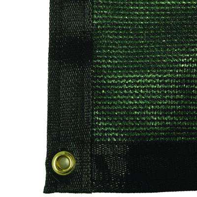 7.8 ft. x 30 ft. Green 88% Shade Protection Knitted Privacy Cloth