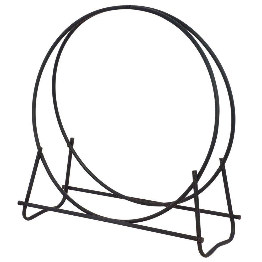 UniFlame 40 in. Hoop Style Firewood Rack-W-1881 - The Home Depot