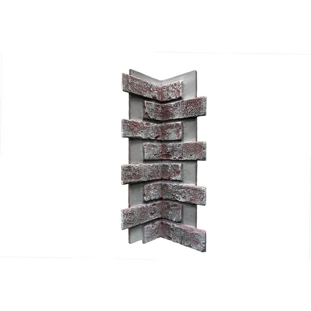Chicago Brick 22.5 in. x 7 in. Brick Veneer Siding Inside Corner Panel