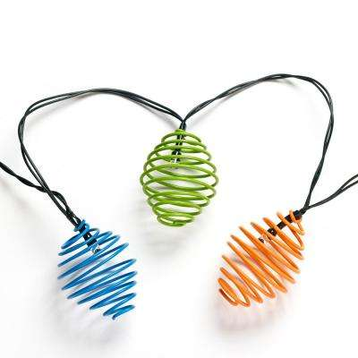 Curvet Assorted Colors Lantern Solar String Light Set with Stake (20-Piece)