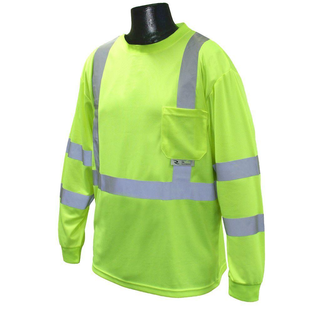 Radians Class 3 4X-Large Green T-Shirt Moisture Wicking