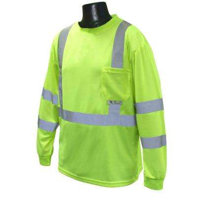 Class 3 X-Large Green T-Shirt Moisture Wicking
