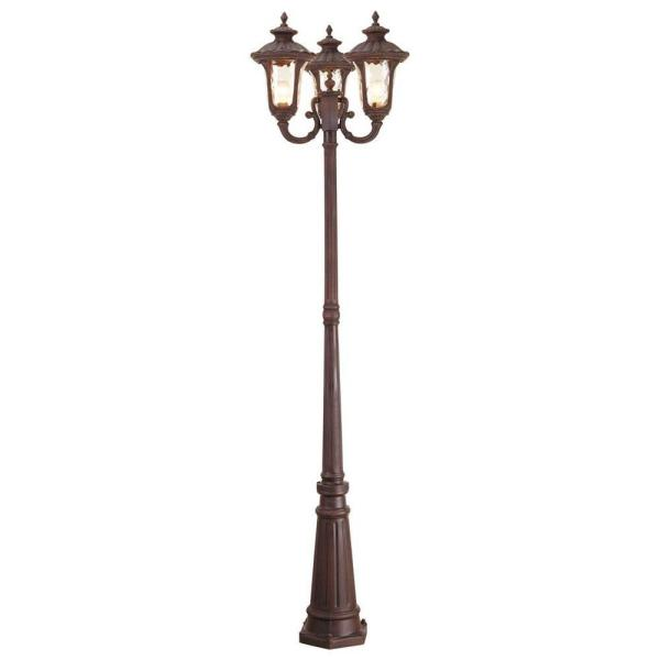 Oxford 3 Light Imperial Bronze Outdoor 3 Head Post