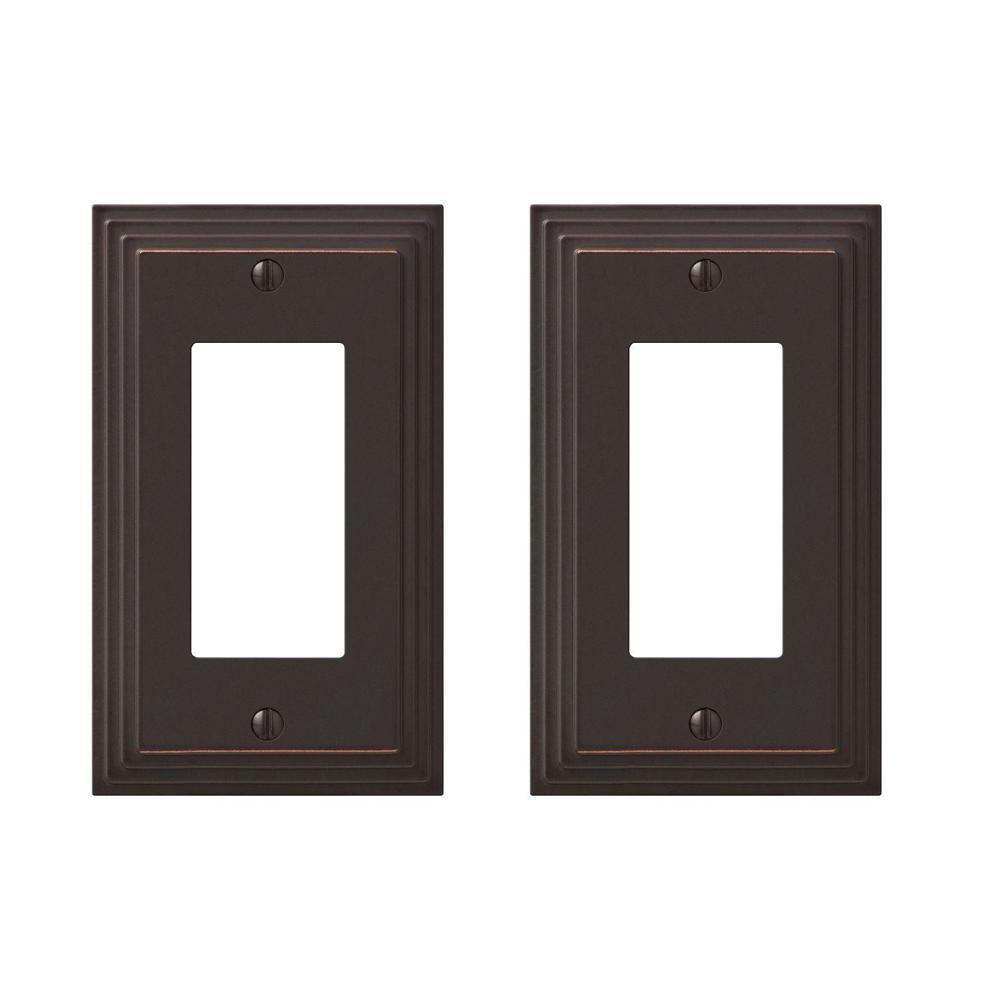 Oil Rubbed Aged Bronze Switch Plate Cover Continental Rocker Toggle