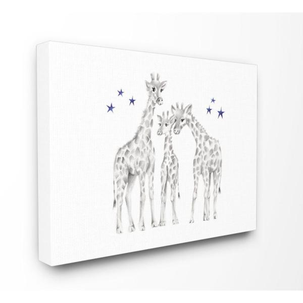 Stupell Industries 24 in. x 30 in. ''Giraffe Family Graphite Drawing''