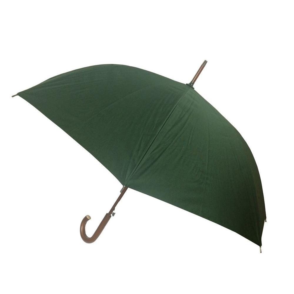 48 in. Arc Canopy Auto Open Stick Umbrella in Green