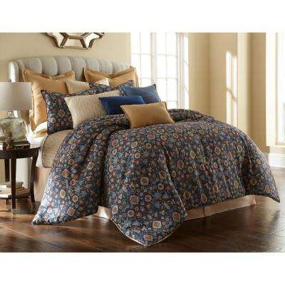 Theresa 4-piece Multi-color King Comforter Set