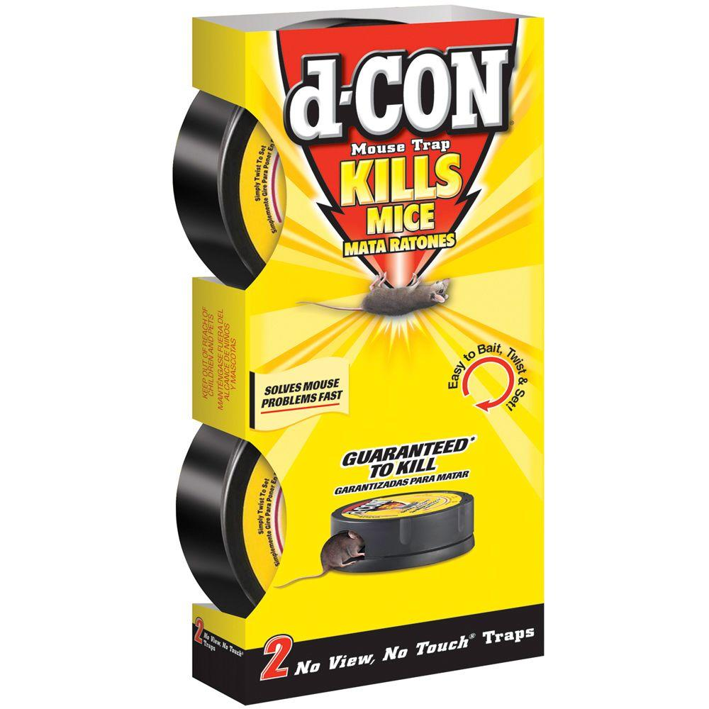 d-CON No View No Touch Mouse Trap (8-Pack)