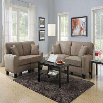 RTA Martinique Dominica Earth/Espresso Polyester Sofa