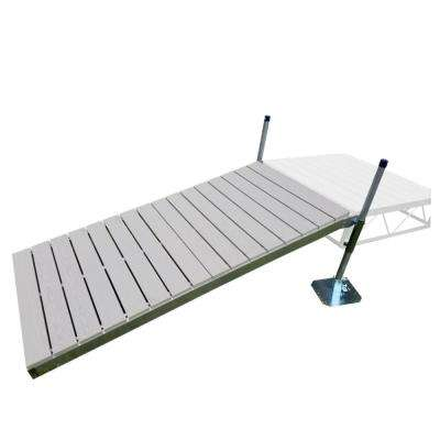 4 ft. x 8 ft. Shore Ramp Kit with Gray Aluminum Decking
