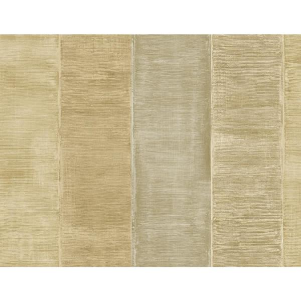 Palladium Metallic Gold and Ivory Striped Strippable Wallpaper