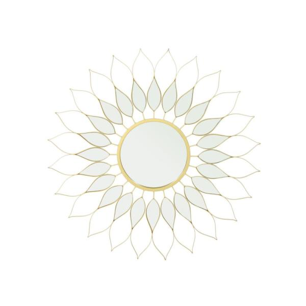 Alioth Glam Flower Gold Wall Mirror