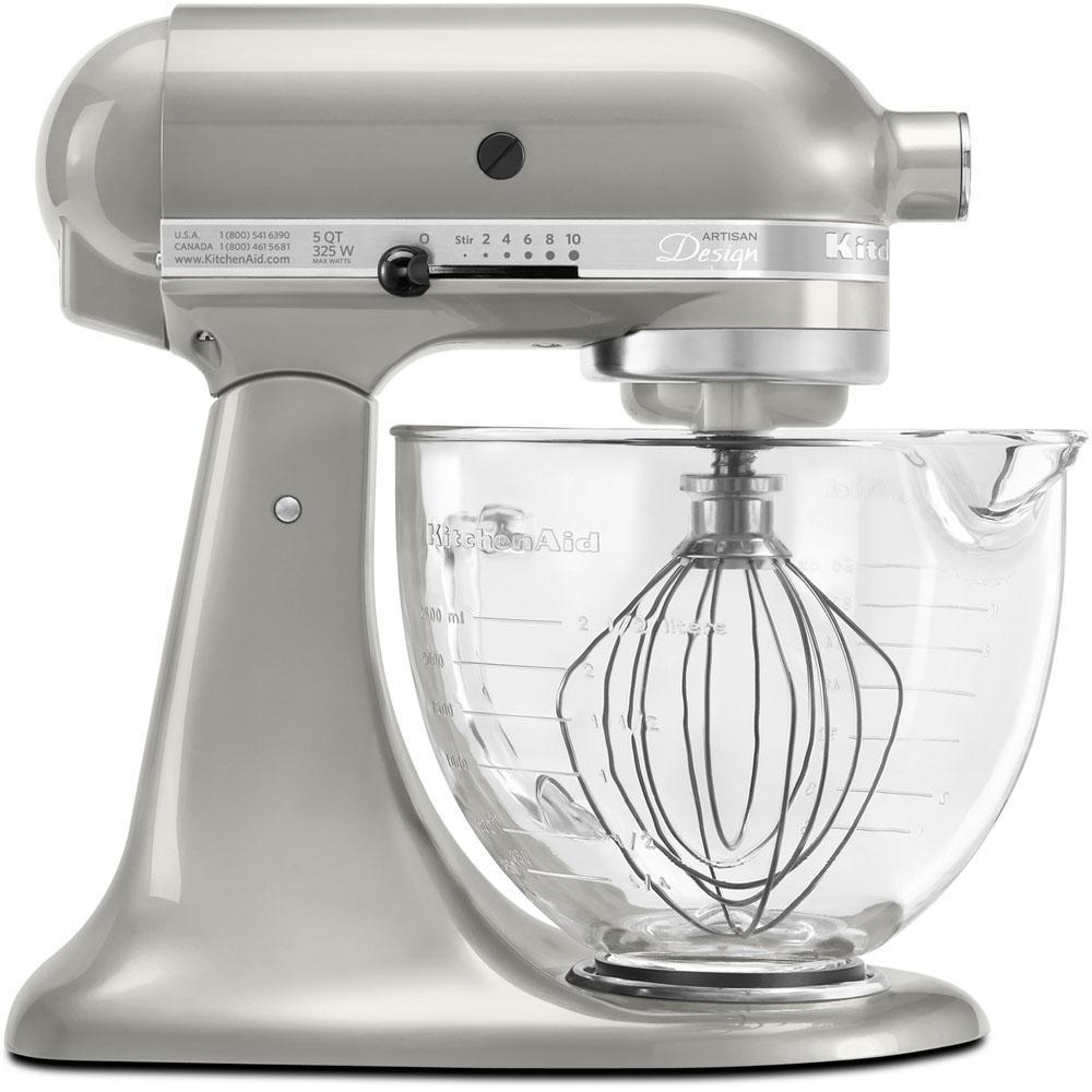 Artisan Designer 5 Qt. Sugar Pearl Silver Stand Mixer