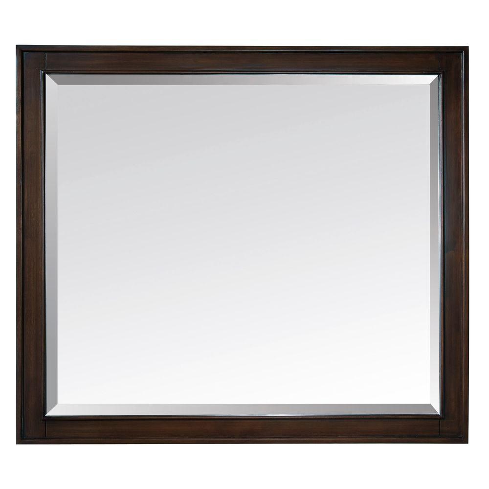 Avanity Madison 36 in. W x 32 in. L Framed Mirror in Light Espresso