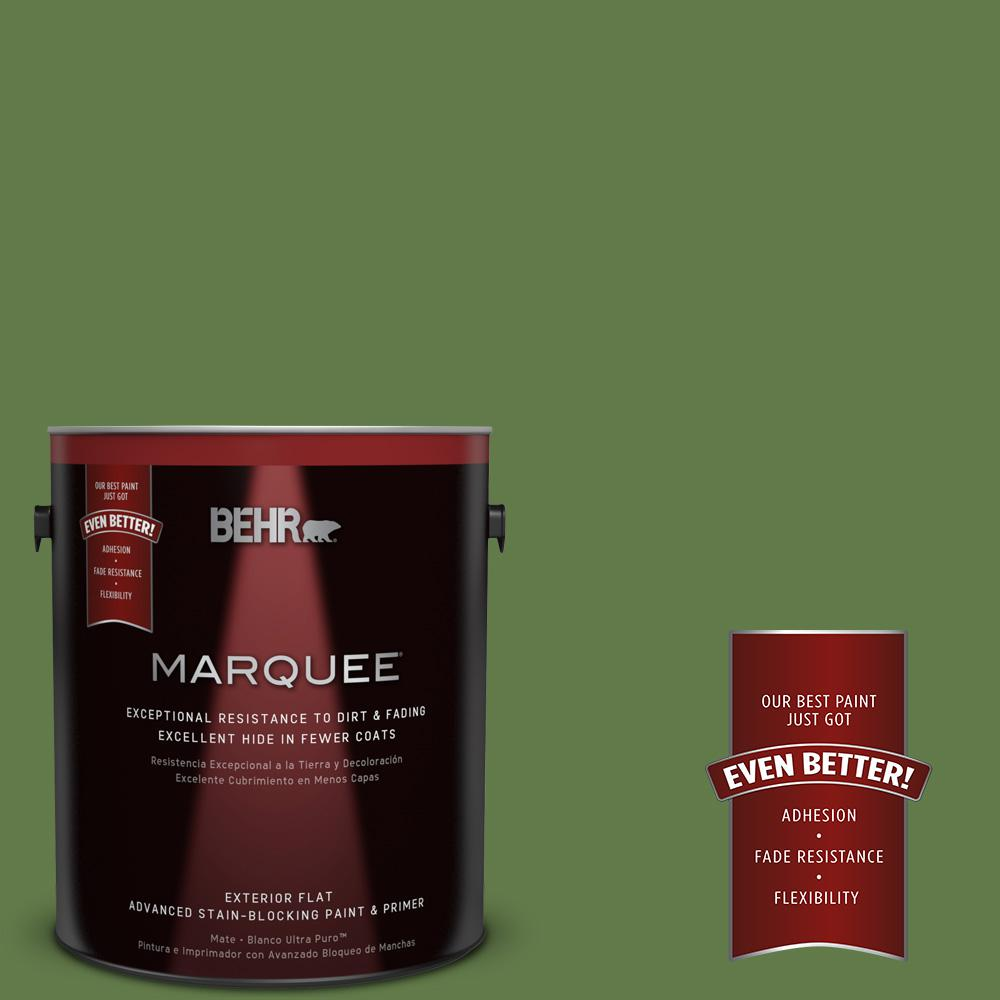 BEHR MARQUEE 1-gal. #M370-7 Mown Grass Flat Exterior Paint