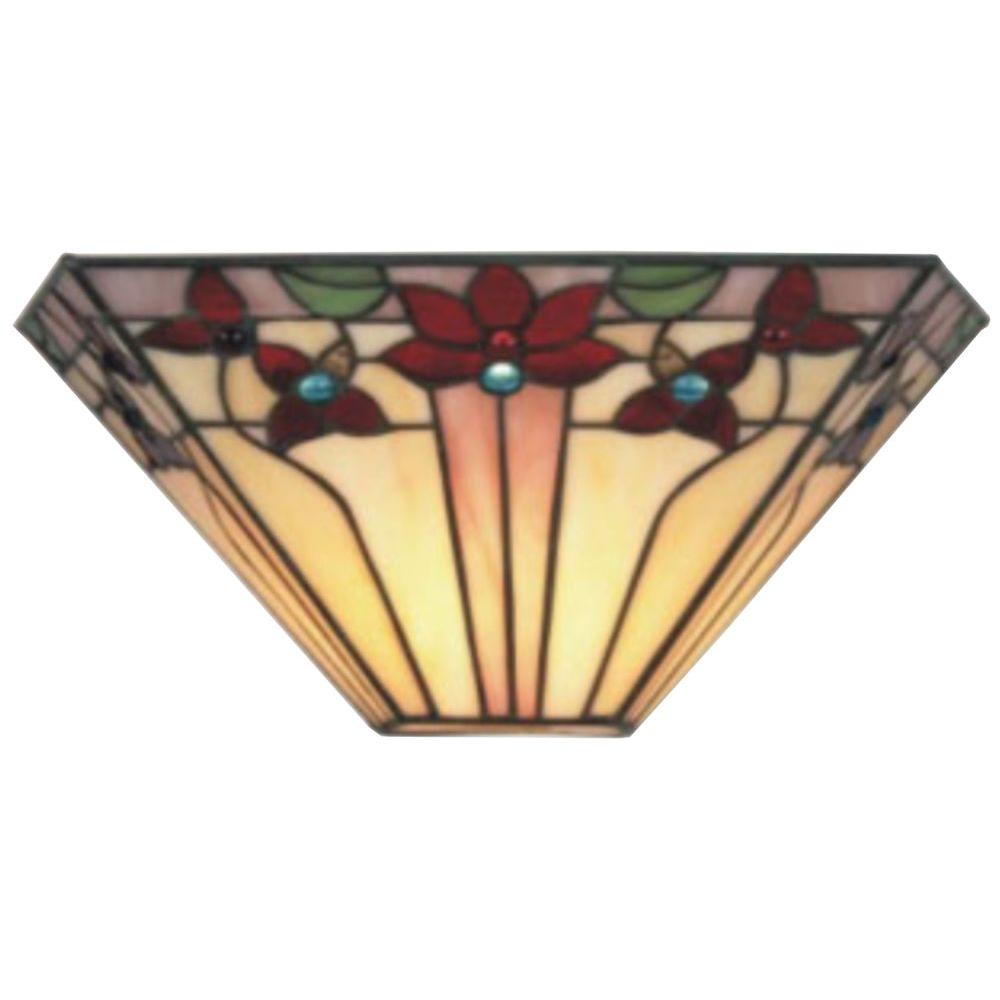 It S Exciting Lighting Tiffany V Shaped Creme Indoor Sconce With 3 Stage Dimmer