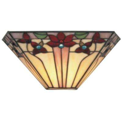 Tiffany V-Shaped Creme Indoor Sconce with 3 Stage Dimmer
