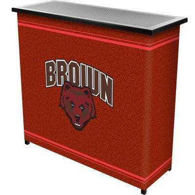 Brown University 2-Shelf Black Bar with Case