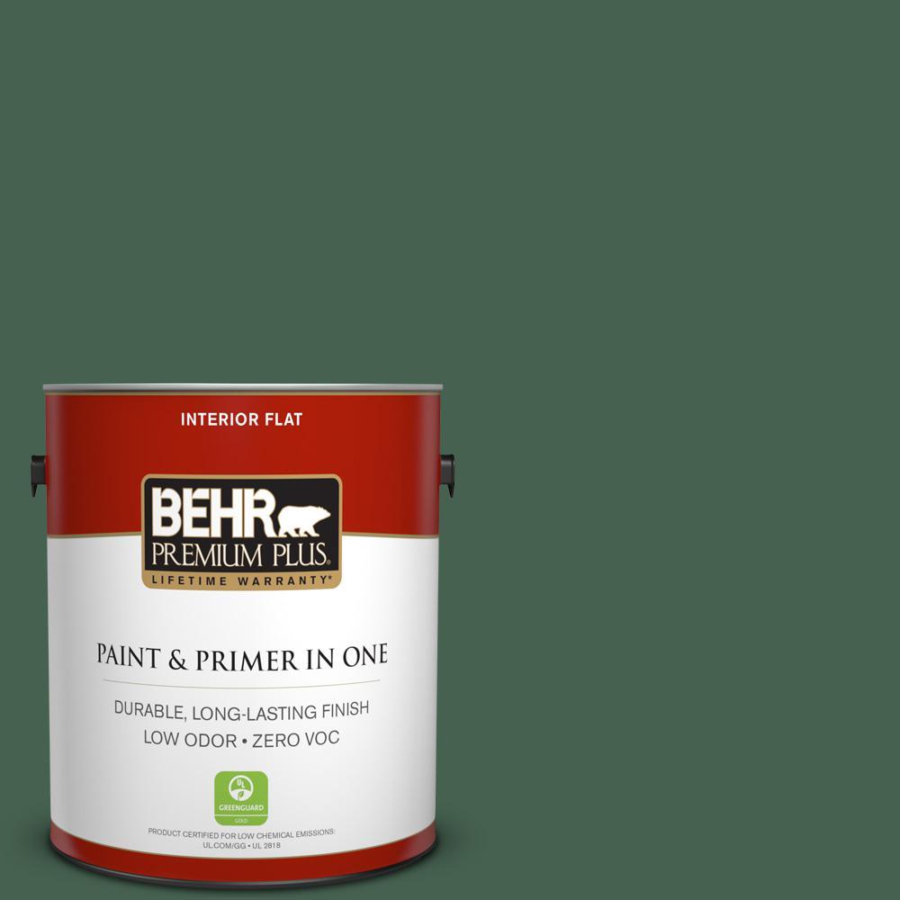 BEHR Premium Plus 1-gal. #BXC-60 Pasture Green Flat Interior Paint