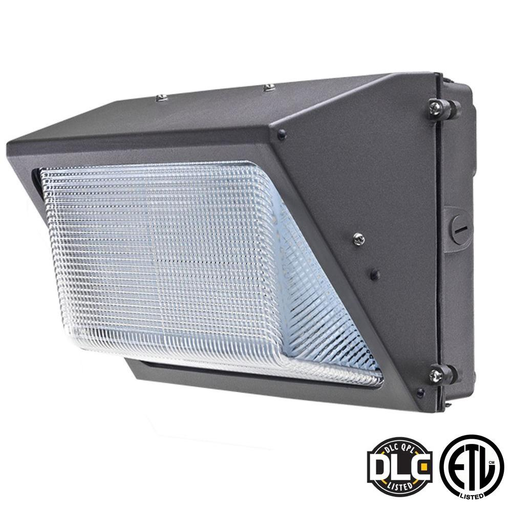 Axis Led Lighting 60 Watt Bronze 5000k Led Outdoor Wall Pack With Glass Refractor Natural White
