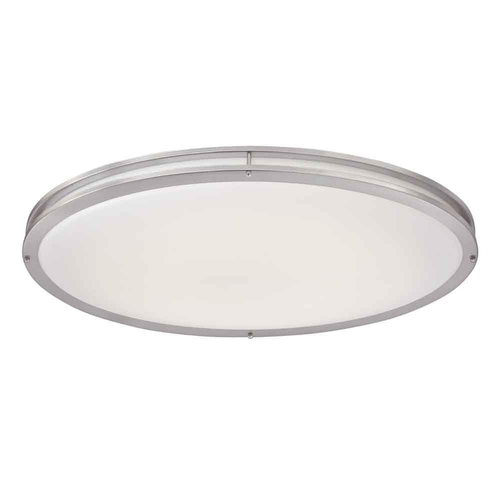 home ceiling lighting. hampton bay brushed nickel led oval flushmountdc032leda the home depot ceiling lighting