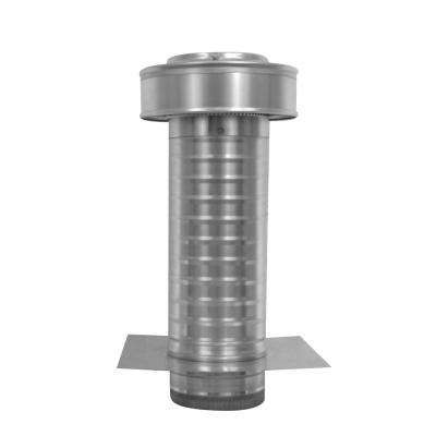 5 in. Dia. Aluminum Keepa Ducted Vent with Tail Pipe in Mill Finish