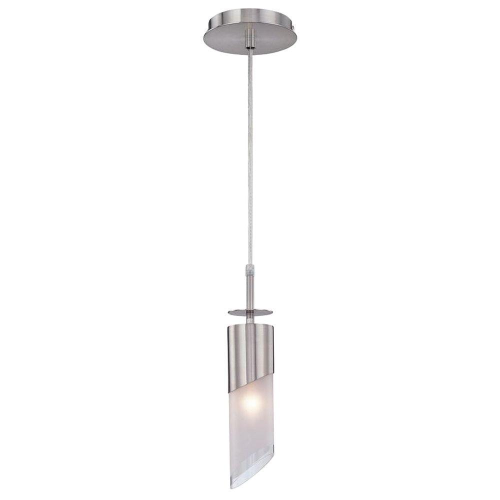 illumine 1 light sliver pendant with glass cli