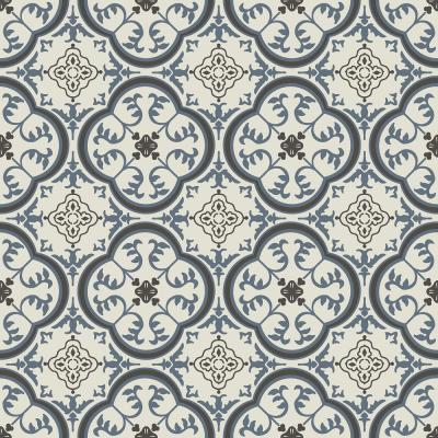 Take Home Sample - Soho Blue and Grey Vinyl Sheet Flooring with 6 in. x 9 in.