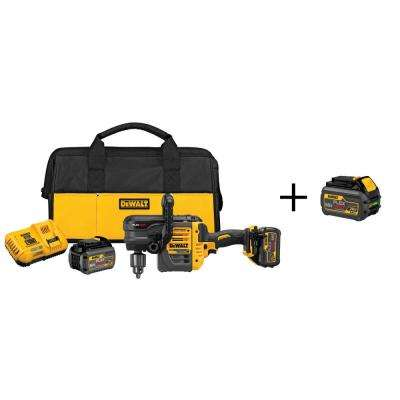 FLEXVOLT 60-Volt MAX Lithium-Ion Cordless Brushless 1/2 in. Stud and Joist Drill with Batteries and Free Battery 2Ah