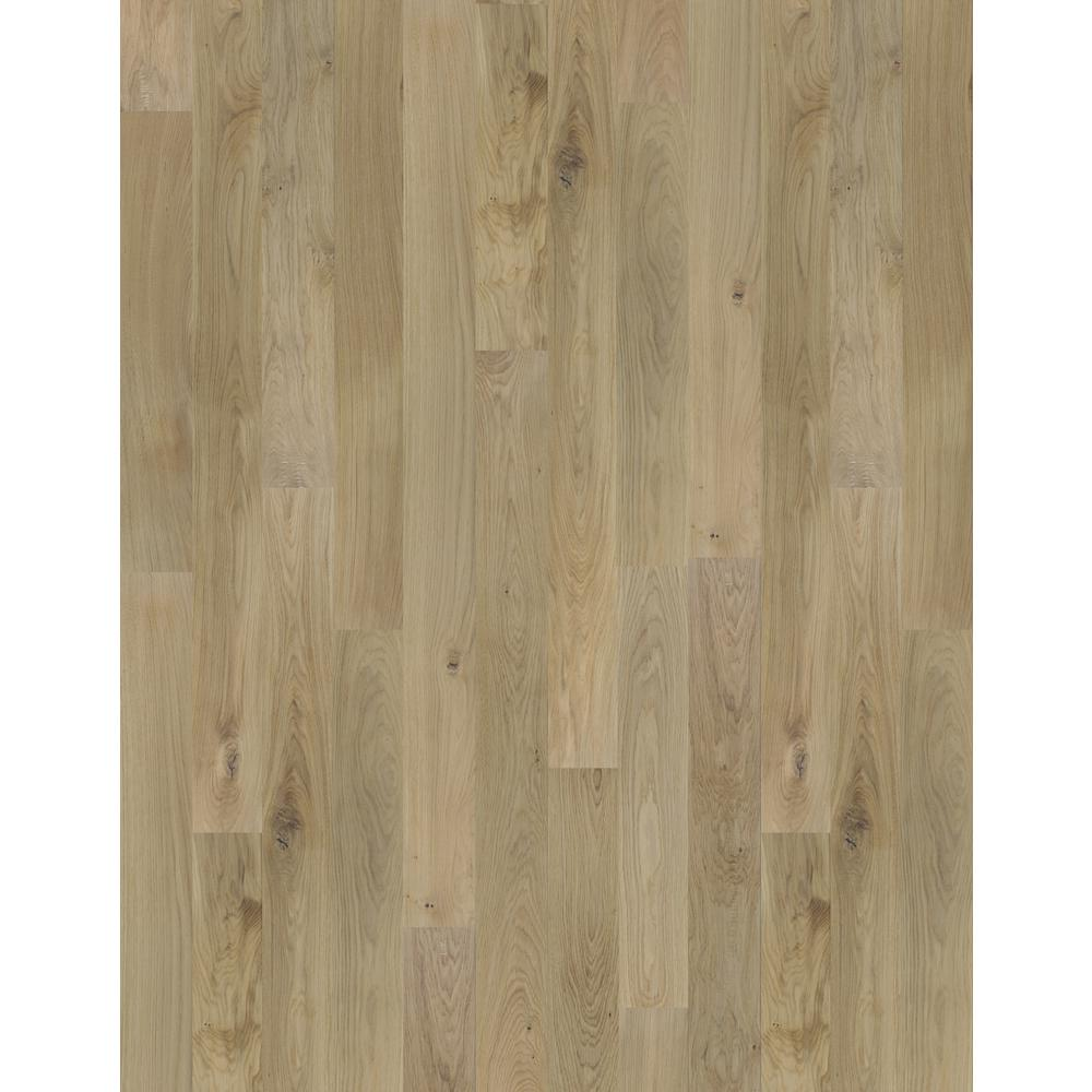 Beasley Smooth White Oak Natural Engineered Hardwood Flooring 1 2 In Thick X 5 Wide Varying Length 36 04 Sq Ft