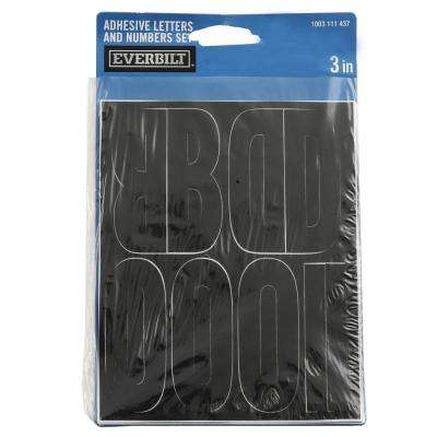 3 in. Black Die-Cut Letters and Numbers Set