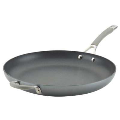 Elementum Hard-Anodized Nonstick Skillet with Helper Handle, 14-Inch, Oyster Gray