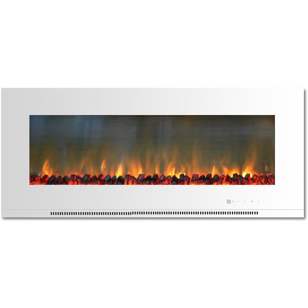Cambridge Metropolitan 56 In Wall Mount Electric Fireplace In
