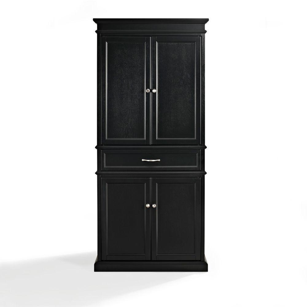 Crosley Parsons Black Storage Cabinet CF3100-BK