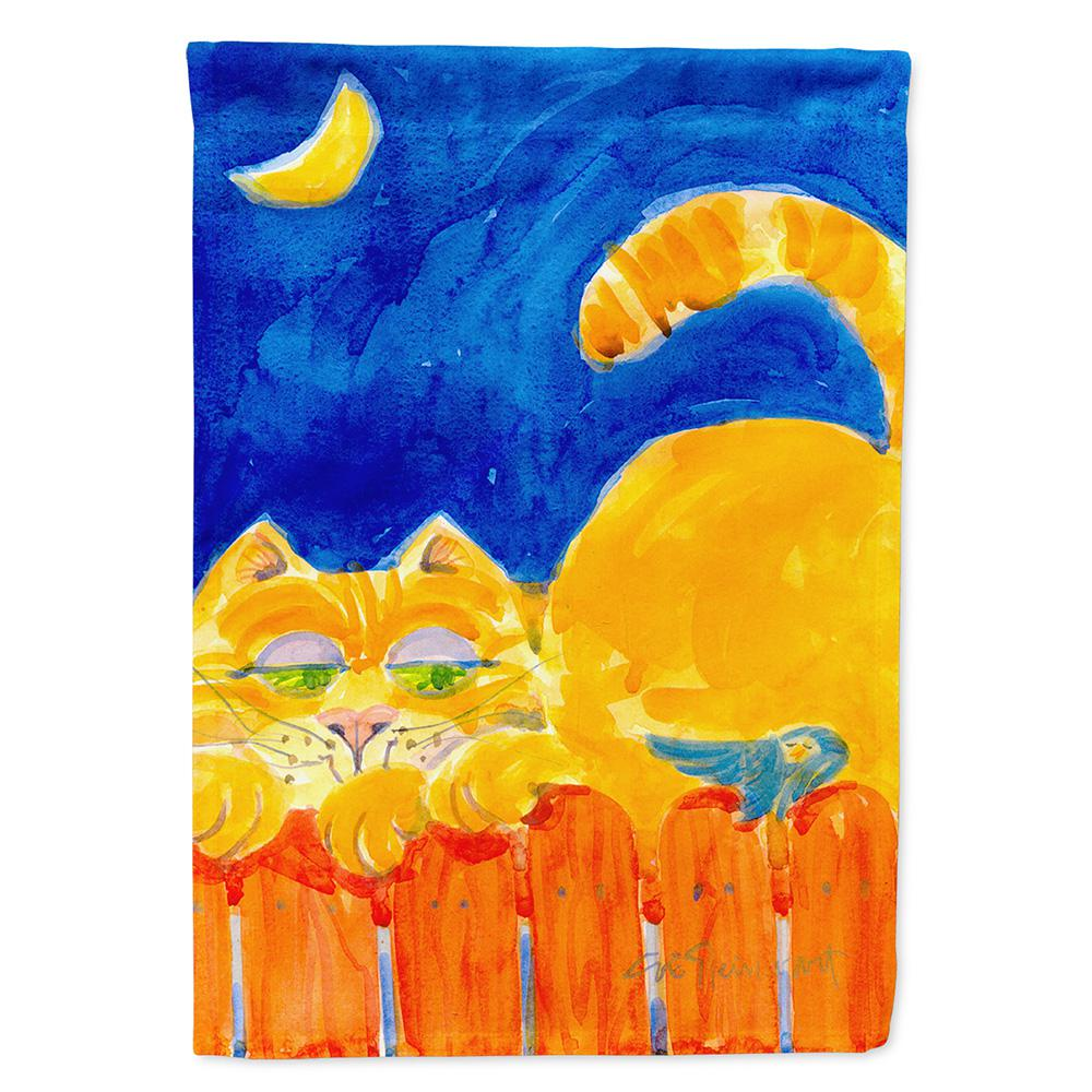 11 in. x 15-1/2 in. Polyester Orange Tabby Cat on the