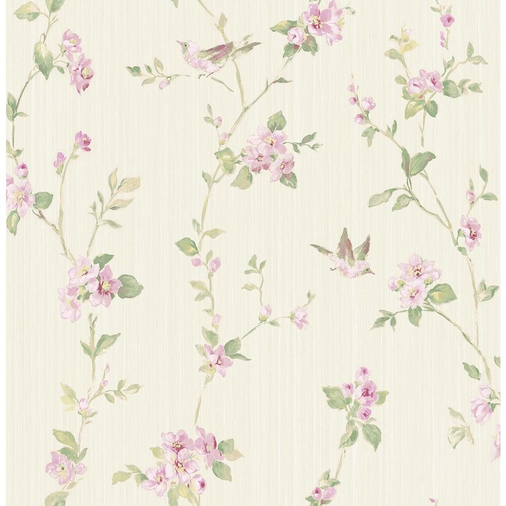 Brewster 56 4 Sq Ft Jacqueline Multicolor Floral Scroll