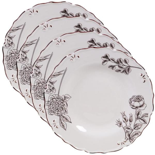 Certified International Vintage Cream with Floral Dinner Plate (Set of 4)